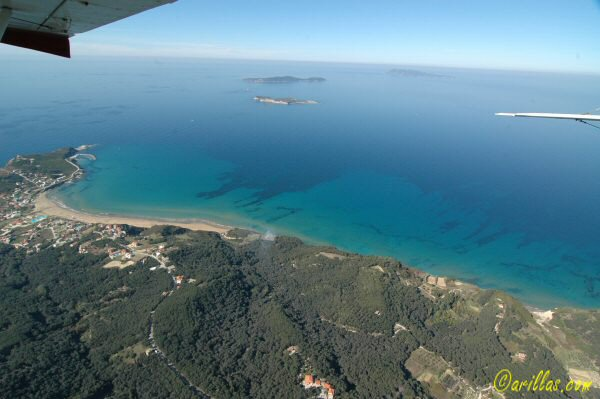 The diapontian Islands viewd above San Stefanos