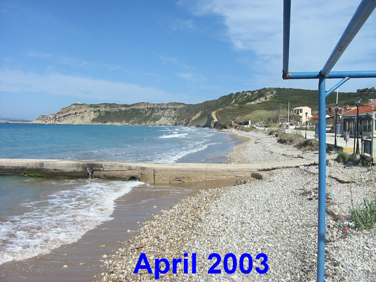 Arillas Beach In April 2003