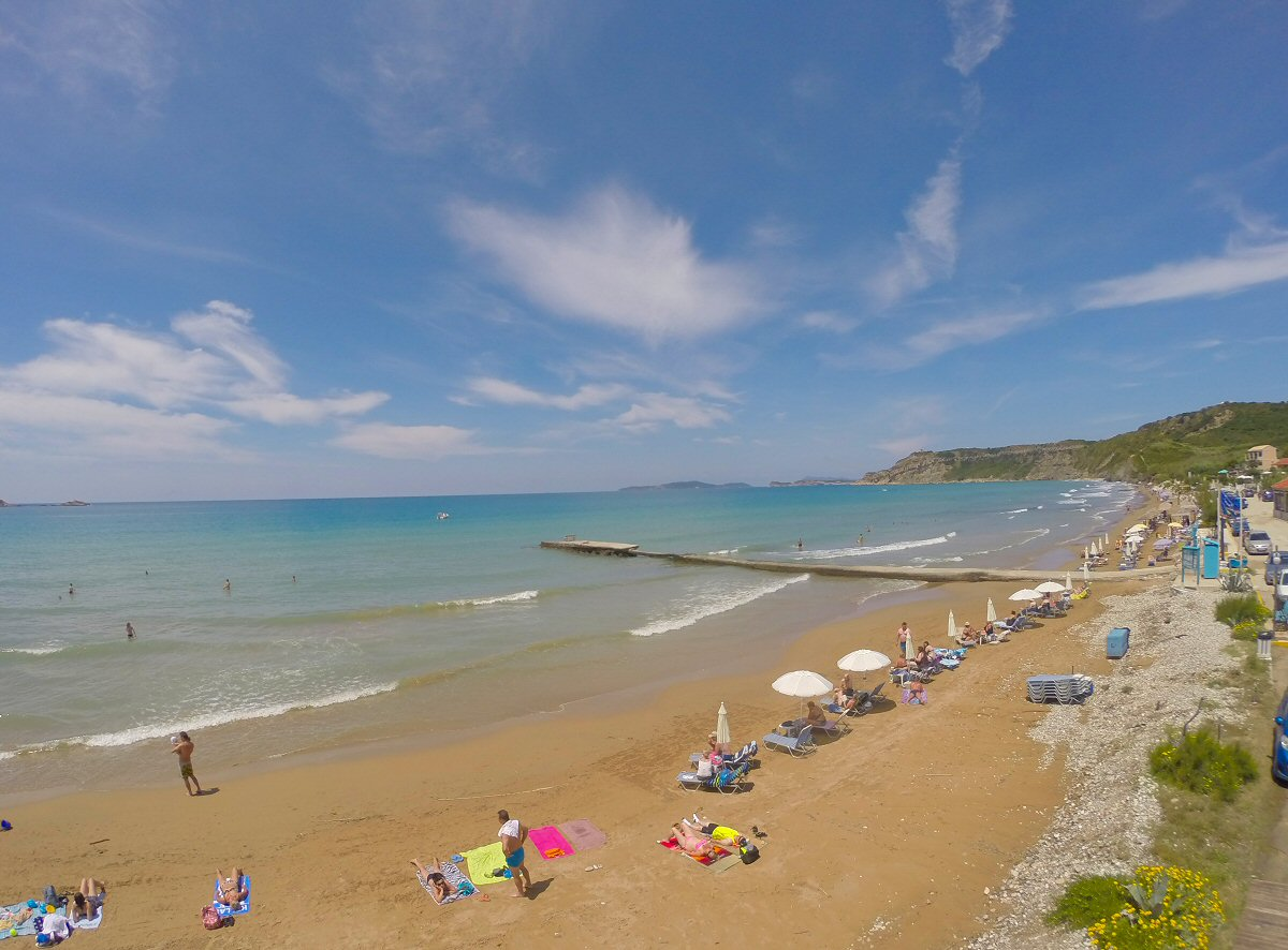 Arillas Beach After the storm.