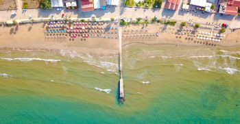 Aerial Pictures Arillas Beach