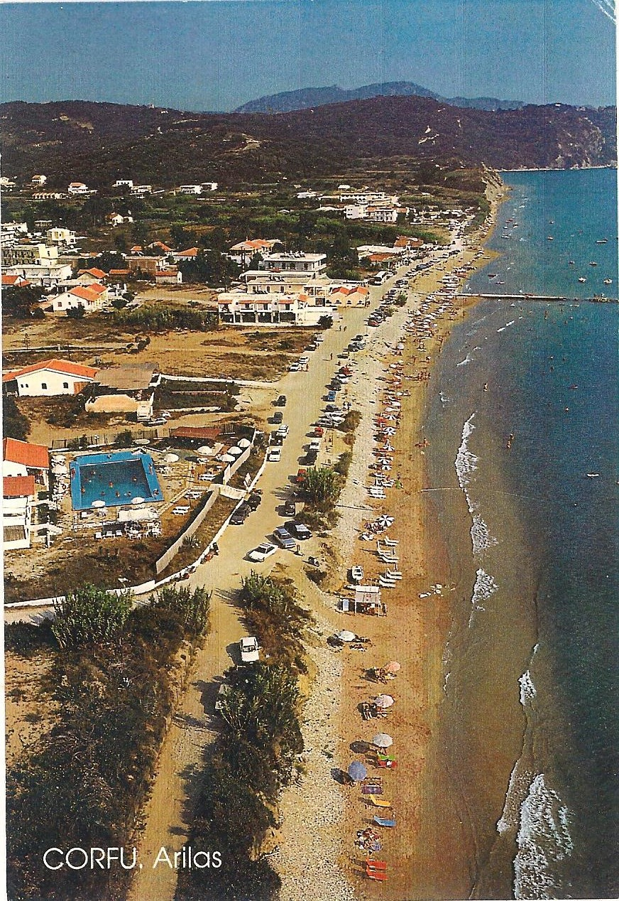 Arillas beach in 1984