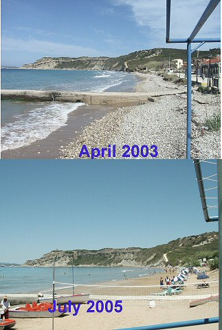 Arillas Beach Size