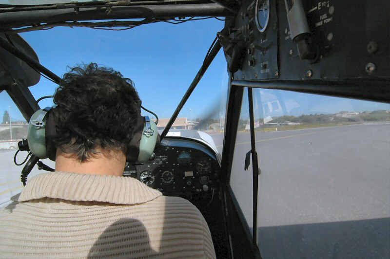 View from Cockpit behind the pilot